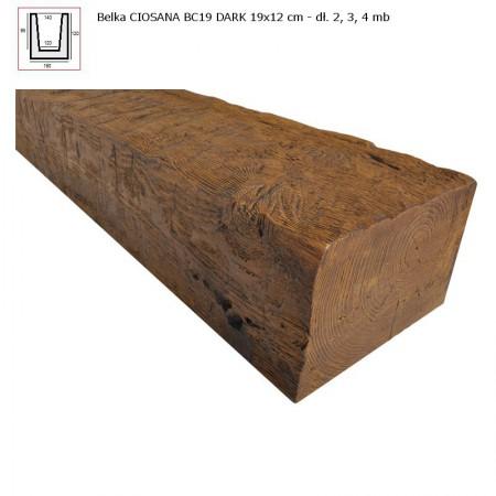 BC19  BELKA  CIEMNY BRĄZ - 19 x 12 x 400 cm