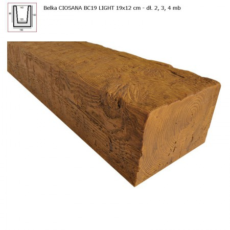 BC19  BELKA  JASNY BRĄZ - 19 x 12 x 400 cm
