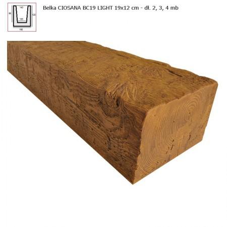 BC19  BELKA  JASNY BRĄZ  - 19 x 12 x 300 cm
