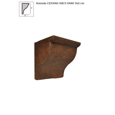 KBC9  WSPORNIK  CIEMNY BRĄZ  - 9 x 6 cm