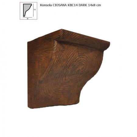 KBC14 WSPORNIK  CIEMNY BRĄZ  - 14 x 8 cm