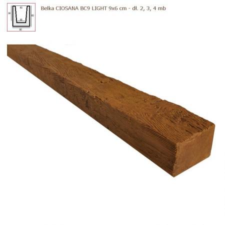 BC9 BELKA  JASNY BRĄZ  6 x 9 x 200cm