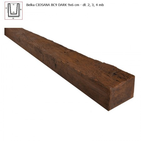 BC9  BELKA  CIEMNY BRĄZ  - 6 x 9 x 300 cm