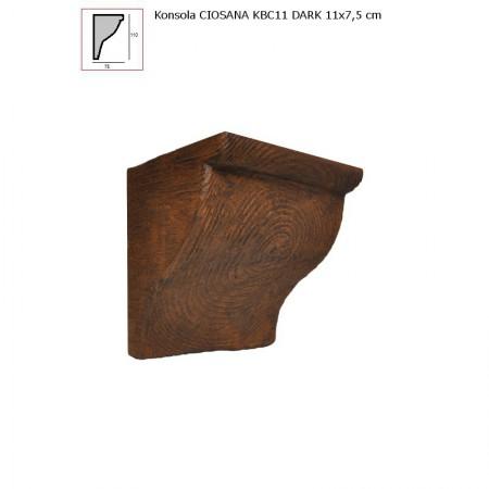 KBC911 WSPORNIK  CIEMNY BRĄZ  - 11 x 7,5 cm