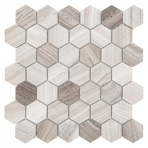 WOODSTONE GREY HEXAGON 48...